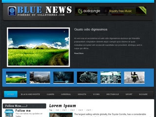News Blue Blogger Template