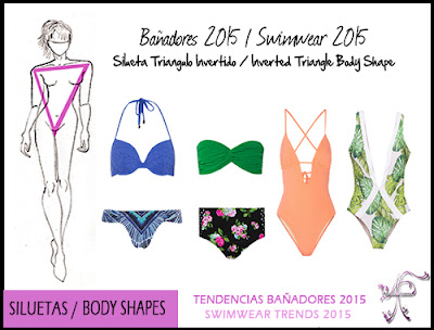 Swimwear Inverted Triangle Body Shape