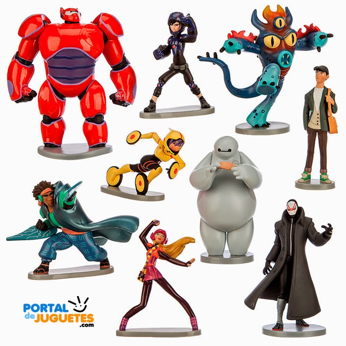 figuras big hero 6 disney store set completo