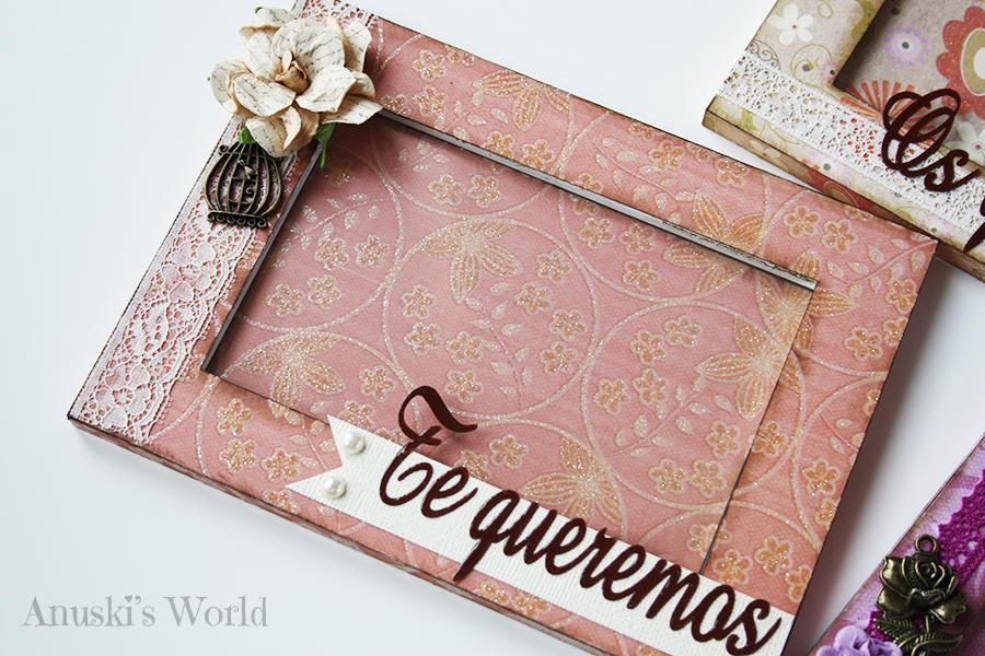 Marcos de fotos decorados para regalar en boda - Anuski´s World