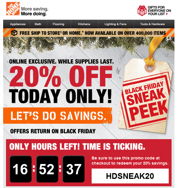 Homedepot.com coupon code