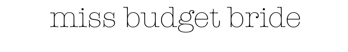 MissBudgetBride