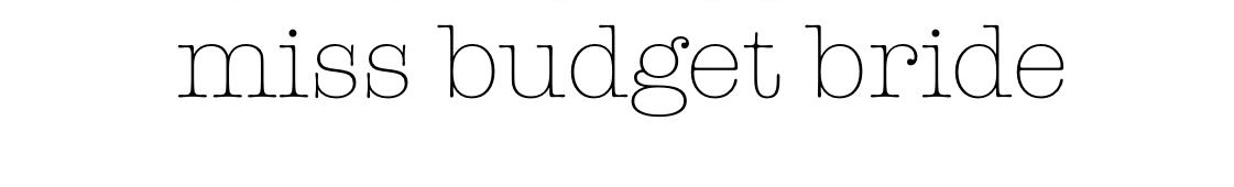 MissBudgetBride