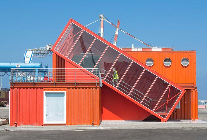 Casas contenedores oficinas modernas realizadas con for Un container