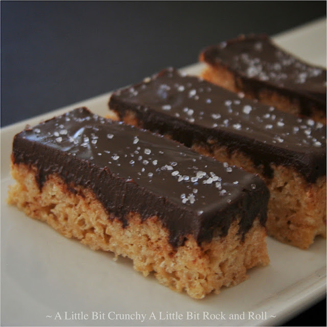 ... Crunchy A Little Bit Rock and Roll: Salted Chocolate Rice Krispie Bars