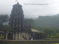 Amruteshwar Temple of Bhandardara dam near Pune in India