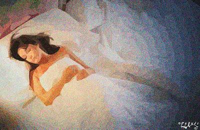 ilustración de la bella durmiente, mujer dormida