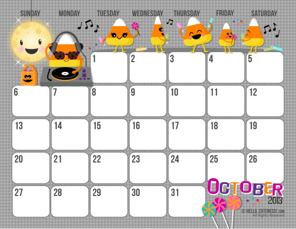 Free Printable 2013 Monthly And Yearly Calendar For Kids