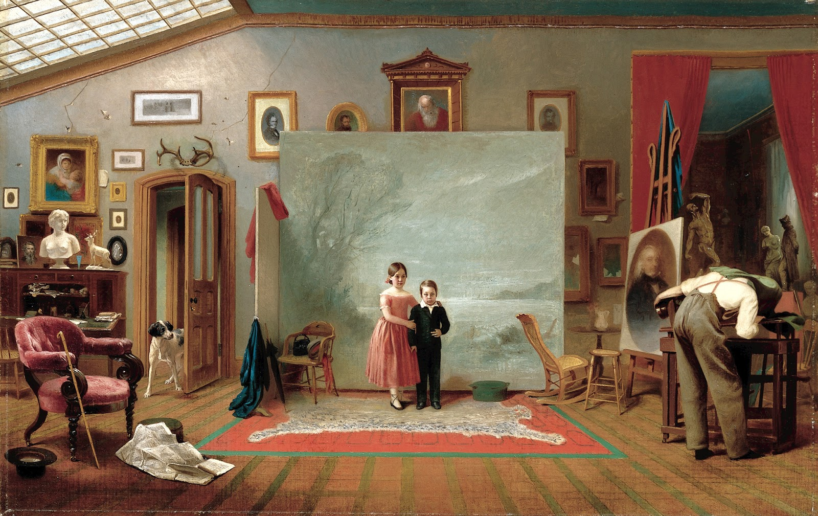 19th century american paintings thomas le clear - House interior photography ...