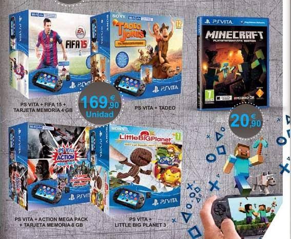 Consola PS Vita de 169 euros ECI 2014-15