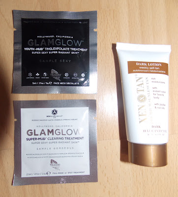 Glam Glow Youth Mud, Glam Glow Super Mud Face Mask, Xen Tan Dark Lotion