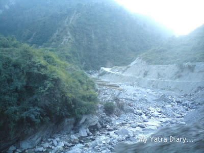 Cloud Burst Patch of Roads encountered in the Garhwal Himalayas during the Char Dham Yatra