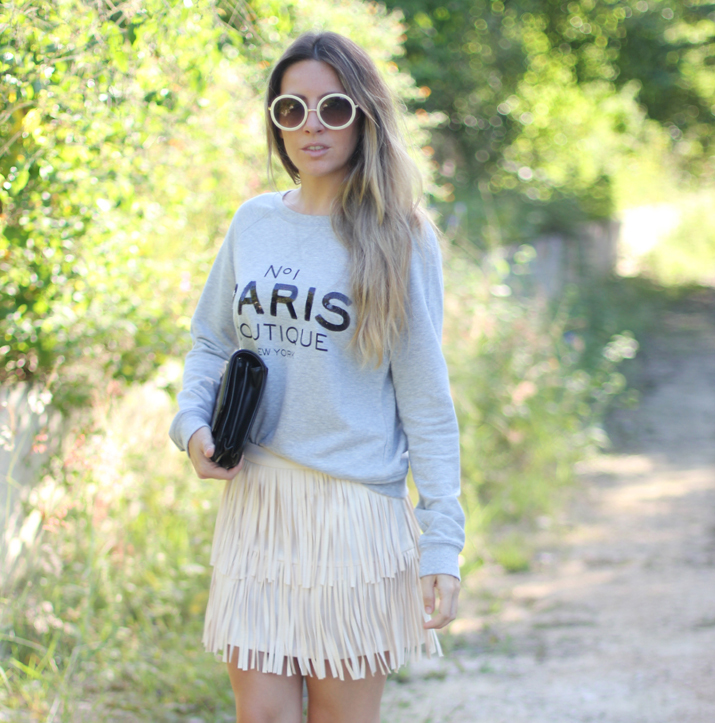 Ideas de look con sudadera bloguera de moda
