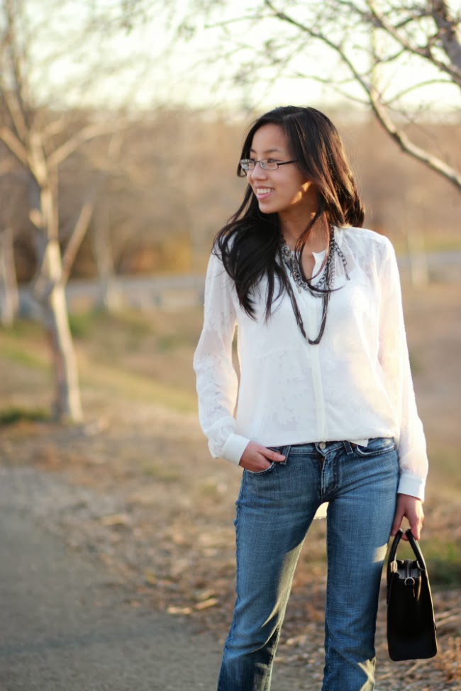 sheer white blouse top trend classic items
