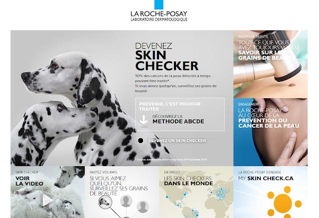 Devenez un Skin Checker... Une campagne de sensibilisation au Cancer de la peau signé Laroche-Posay.