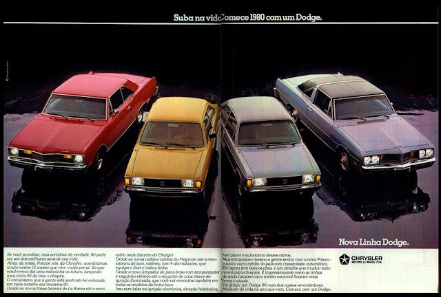 propaganda linha Dodge - Chrysler - 1979. propaganda anos 70. propaganda carros anos 70. reclame anos 70. Oswaldo Hernandez.