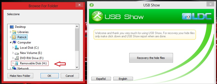 how to show hidden folders in usb flash drive