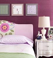 paredes rosa púrpura violeta