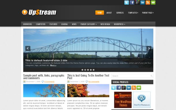 Free Wordpress News Steaming Theme Template