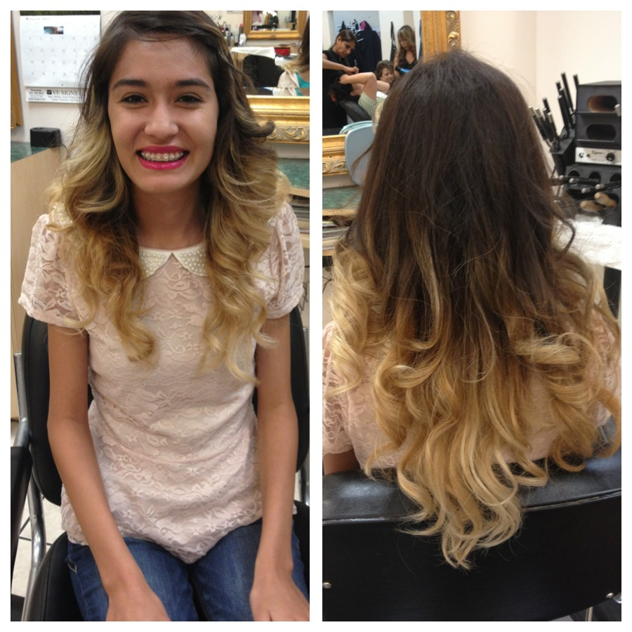 Ombre Hair Brown To Blonde Haircut Media