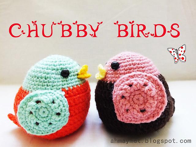 Amigurumi Crochet Animal Patterns : tangled happy: Chubby Birds