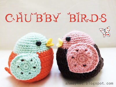 free crochet pattern amigurumi chubby bird