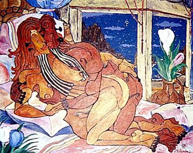 Melódica noche del amor 81x100cm