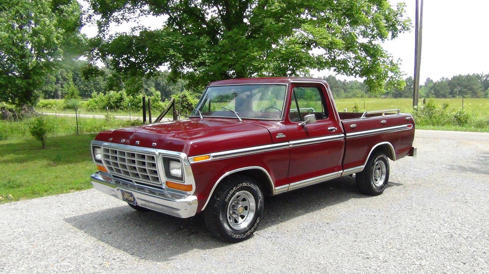 all american classic cars 1979 ford f100 ranger pickup truck. Black Bedroom Furniture Sets. Home Design Ideas