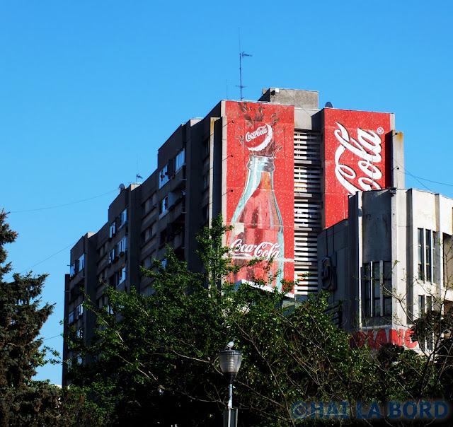 reclama coca-cola centru pitesti