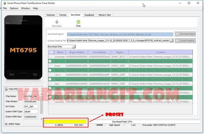 Proses Flashing Redmi Note 2 Dengan SP Flash Tool