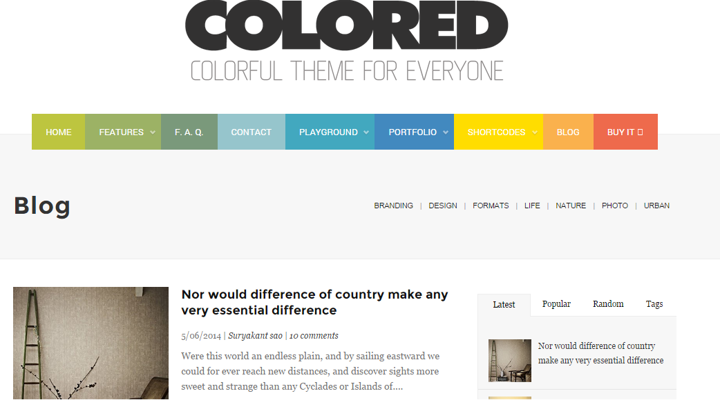 Download Colored Free Blogger Templates