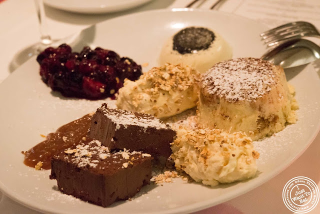 image of dessert trio at Incognito Bistro in NYC, New York