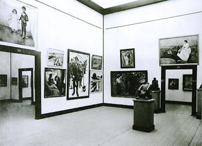 Sonderbundausstellung, Köln 1912 - Blick in Saal 20: Edvard Munch