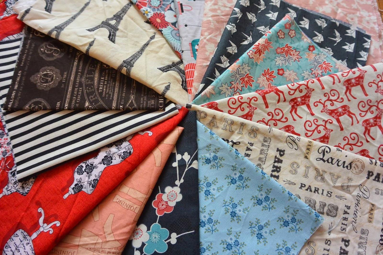 patchwork de tissus pour création housse de coussins