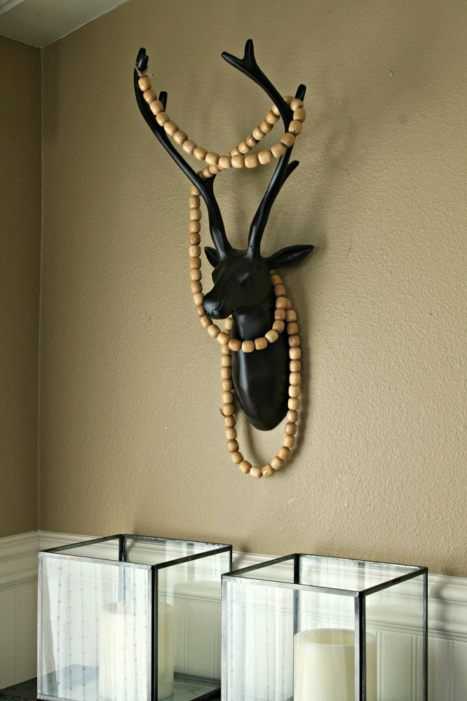 7 Days of Repurposed Wood Bead Seat Covers, Antlers, Everyday Garland