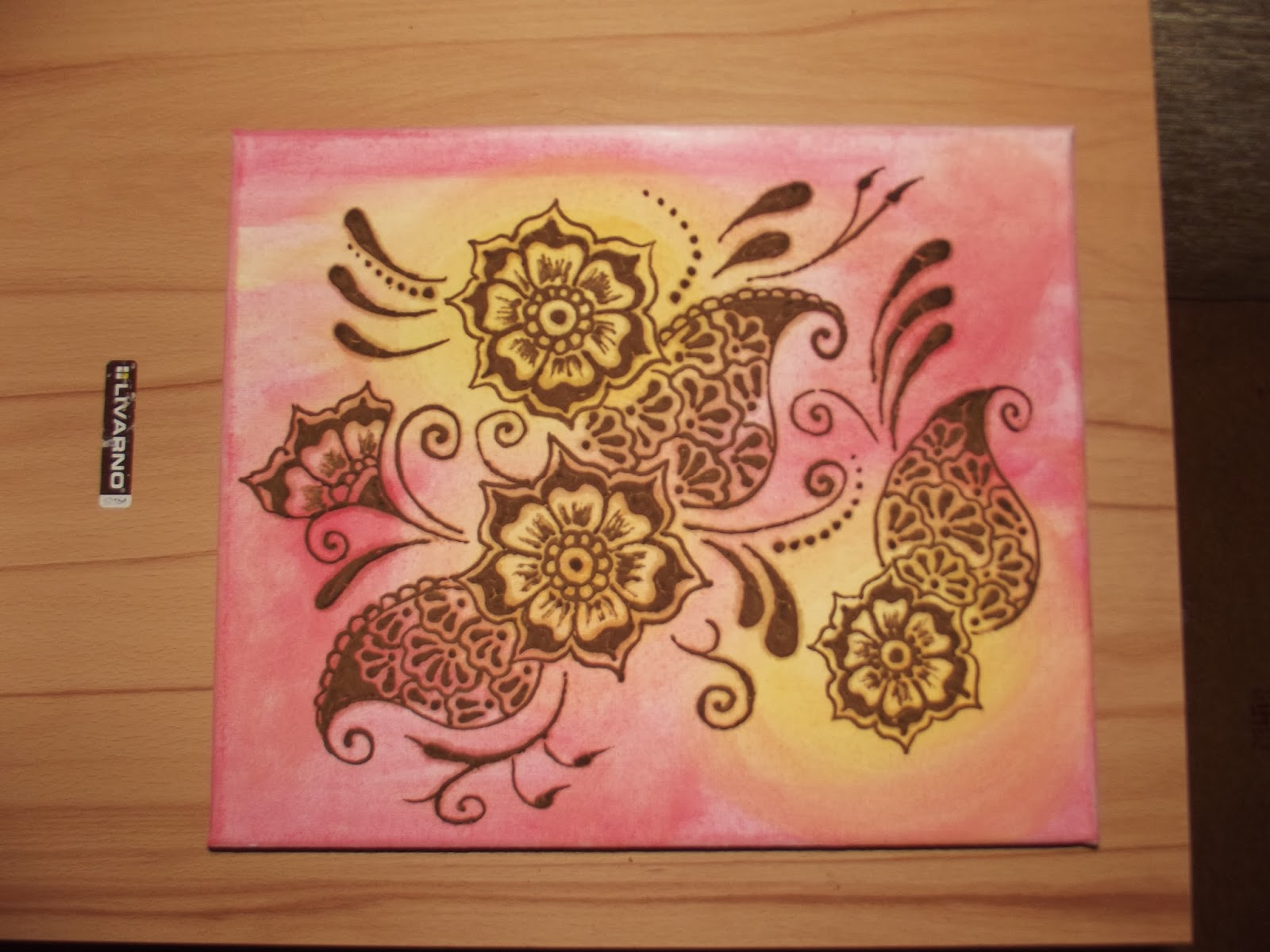 Anita S Arty World Henna Paintings On Canvas