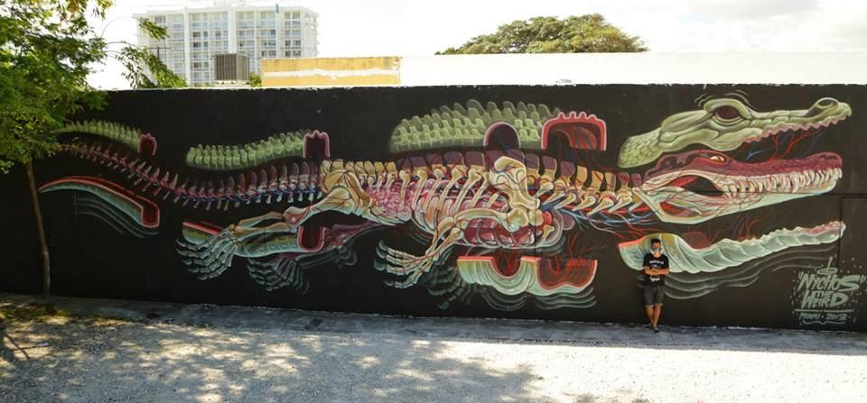 Geek Art Gallery: Street Art: Alligator Anatomy