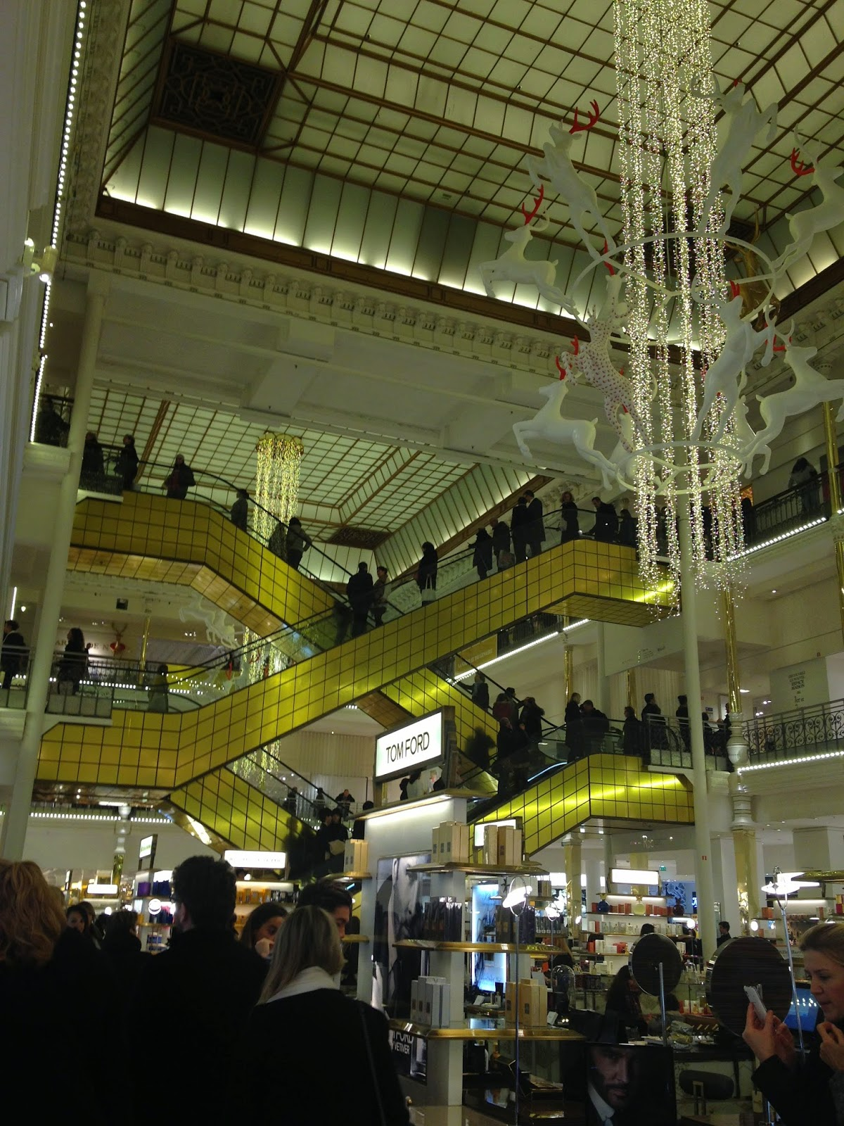 Holiday decorations at Le Bon Marché Rive Gauche, Paris
