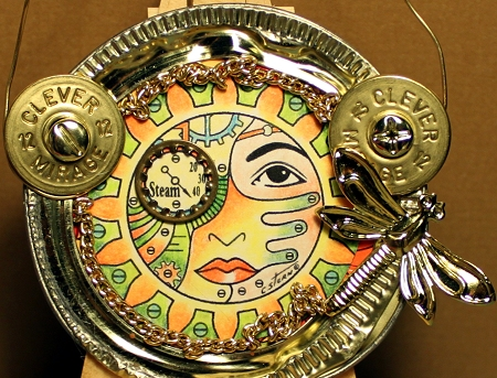Round Steampunk Digital Stamp