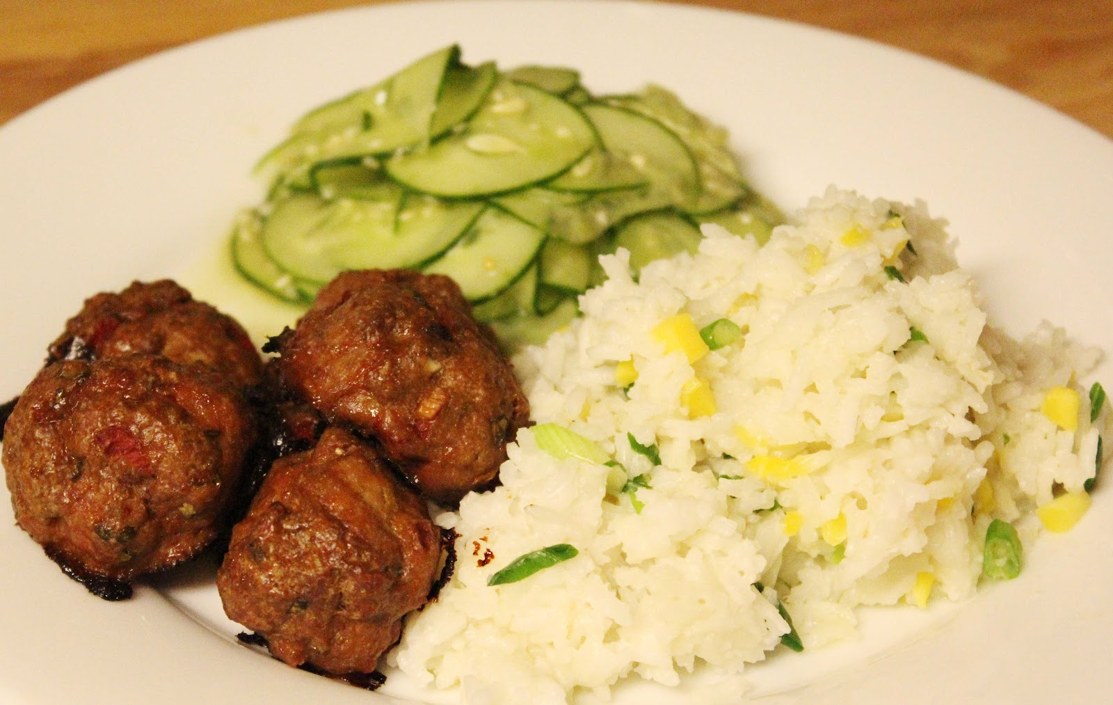 The No Pressure Cooker: Thai Basil Meatballs and Mango Coconut Rice