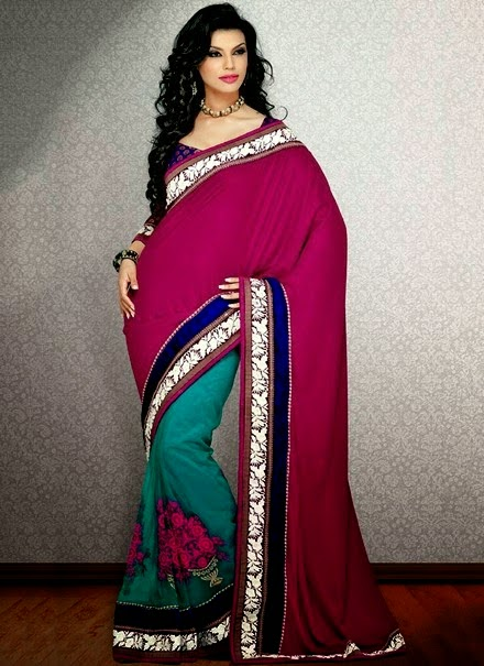 Indian Formal Fancy Sarees for Girls