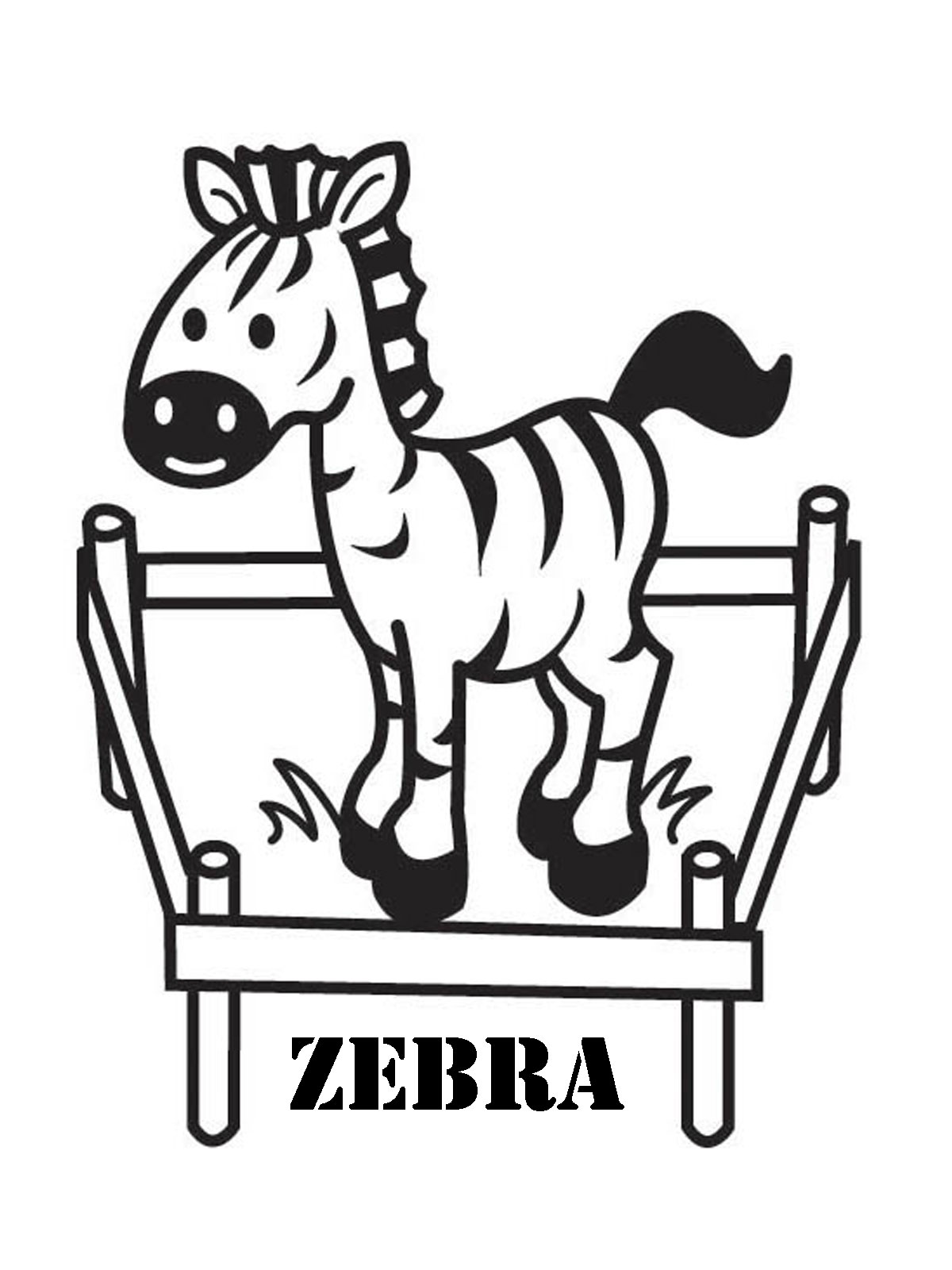 Baby Zebra Coloring Pages For Kids