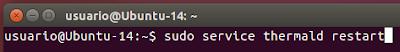sudo service thermald restart