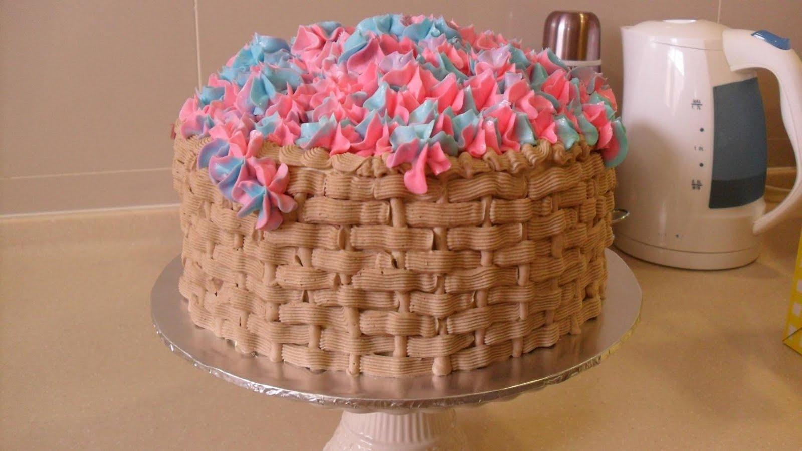 Italian Rainbow Cake Flowers In Basket For Hudra Swirl Of Colors