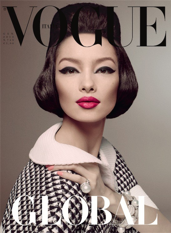 Fei Fei Sun Vogue Italia January 2013 Cover