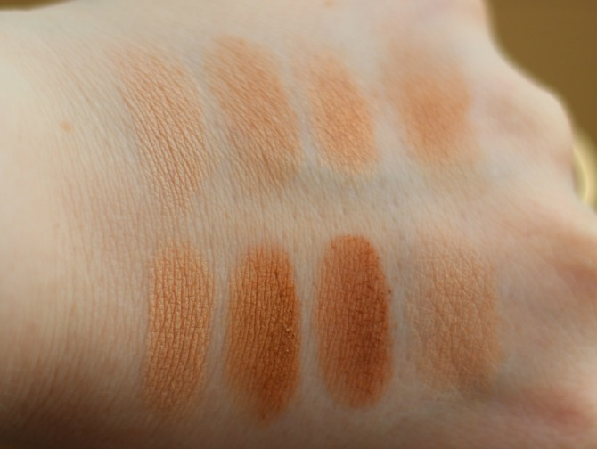 All about bronzer palette swatches