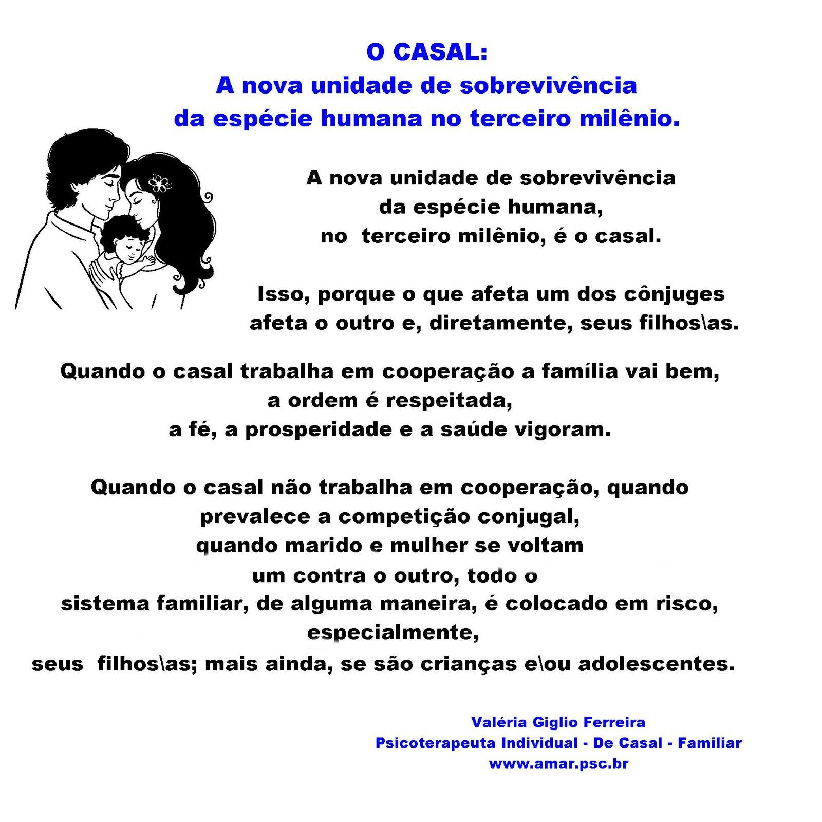 CASAL - A NOVA UNIDADE DE SOBREVIVÊNCIA...