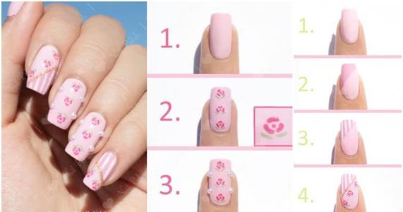 HD wallpapers unhas decoradas com rosas passo a passo