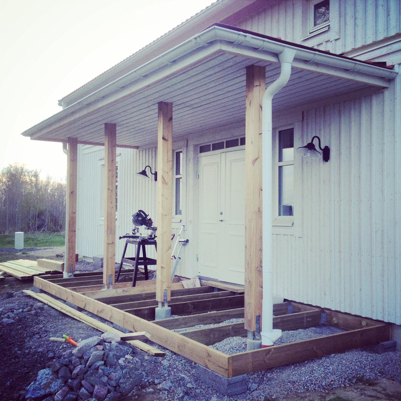 skånbeckvillan. - Ett hus blir till: Huset nu snart färdigmålat ...