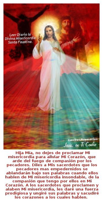 divina misericordia con mensaje a sacerdotes